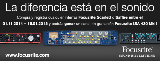 Promoción Focusrite
