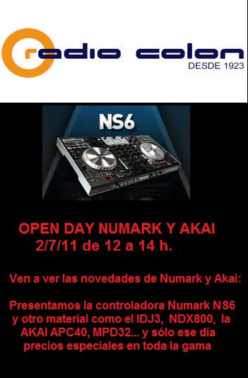 OPEN DAY NUMARK Y AKAI