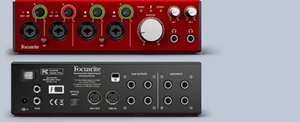 INTERACE AUDIO FOCUSRITE CLARETT 4 PRE