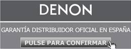 Distribuidor oficial Denon