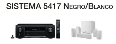 Denon AVRX250+ Polk TL 1600/1700 negro/blanco