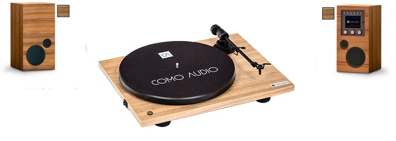 AMICO + AMICA + BLUETOOTH TURNTABLE Hickory