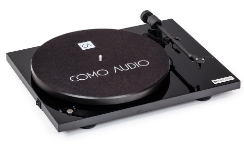 COMO AUDIO BLUETOOTH TURNTABLE Negro High Gloss