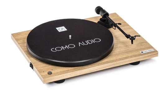 COMO AUDIO BLUETOOTH TURNTABLE Hickory