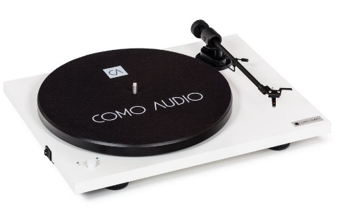 COMO AUDIO BLUETOOTH TURNTABLE High Gloss White