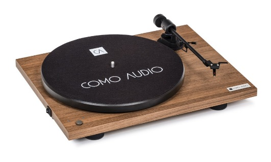COMO AUDIO BLUETOOTH TURNTABLE nogal