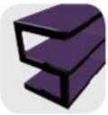 MUEBLE TV NORSTONE ESSE púrpura
