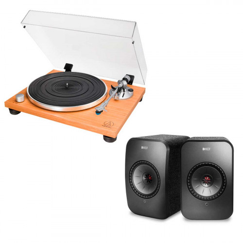 Audio-Technica AT-LPW30TK + KEF LSX negro