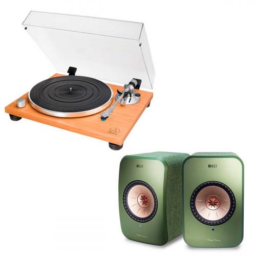 Audio-Technica AT-LPW30TK + KEF LSX verde