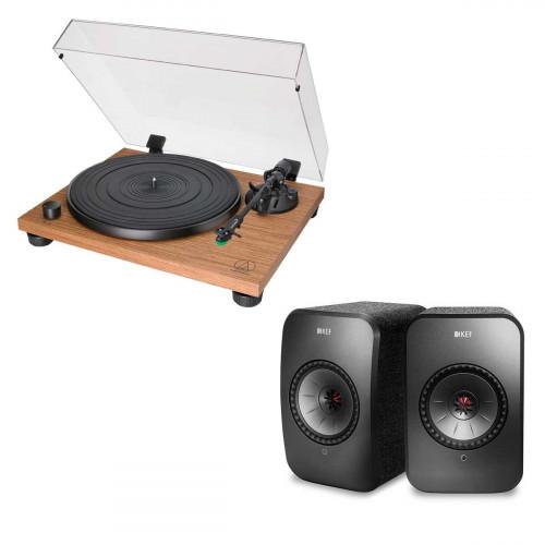 Audio-Technica AT-LPW40WN + KEF LSX negro