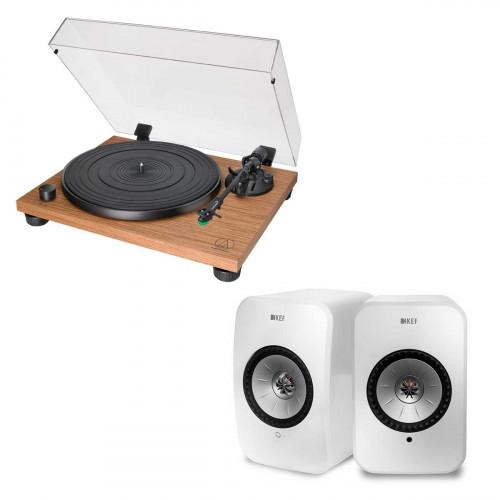 Audio-Technica AT-LPW40WN + KEF LSX blanco