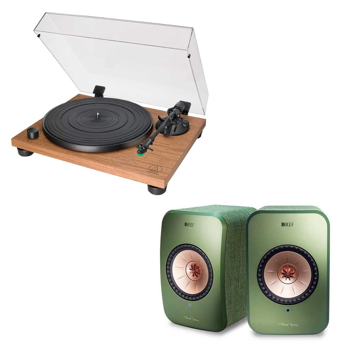 Audio-Technica AT-LPW40WN + KEF LSX verde