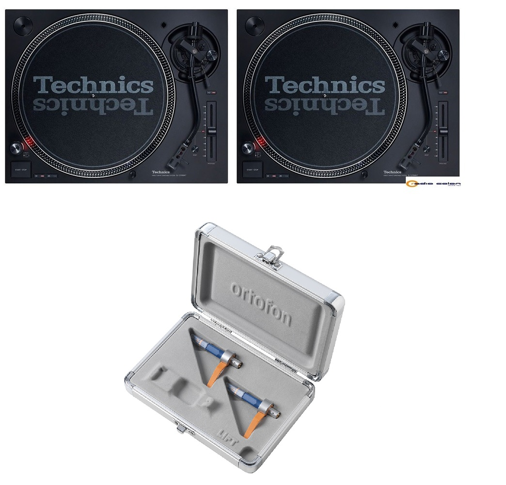 2 Technics SL1210 mk7 + cápsula Ortofon Concorde MKII Twin DJ