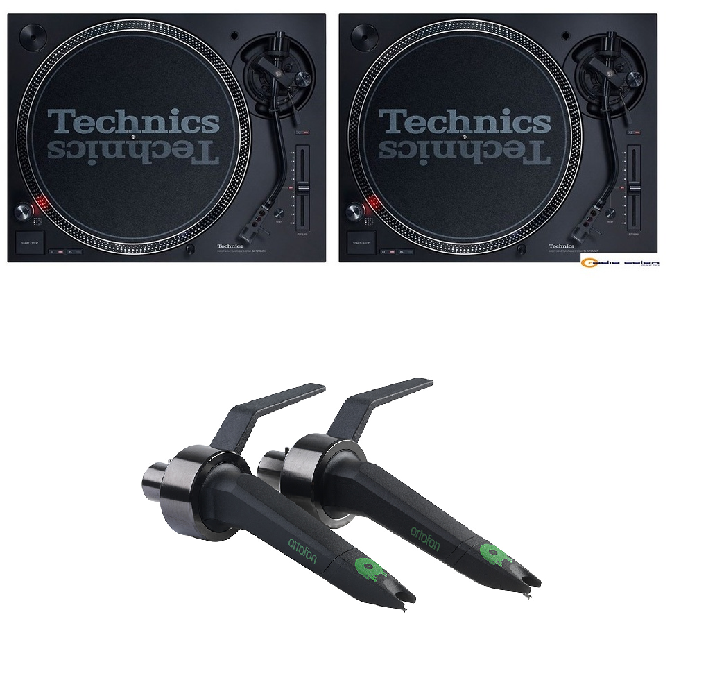 2 Technics SL1210 mk7 + cápsula Ortofon Concorde MKII Twin Mix
