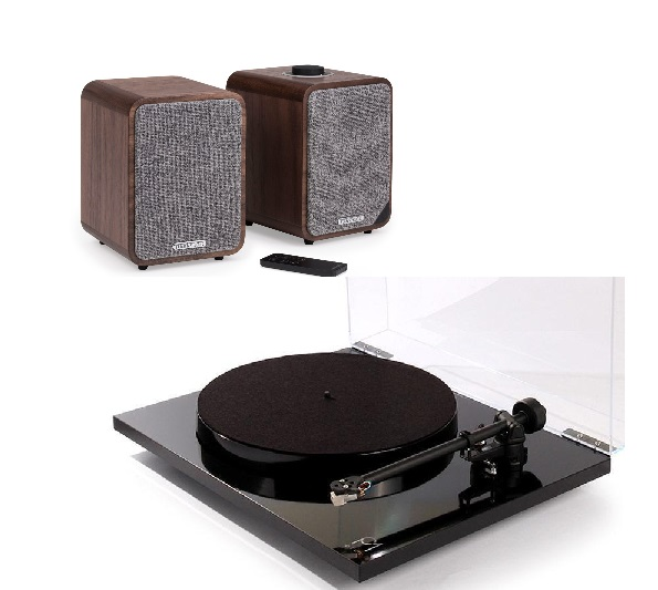 Rega Planar 1 Plus + Ruark MR1 negro/nogal