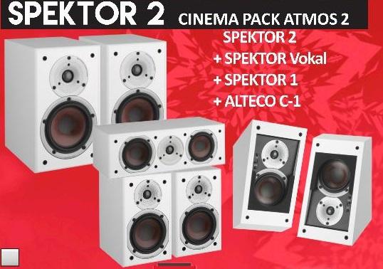 DALI SPEKTOR 2 CINEMA PACK ATMOS Alteco x 2 blanco no