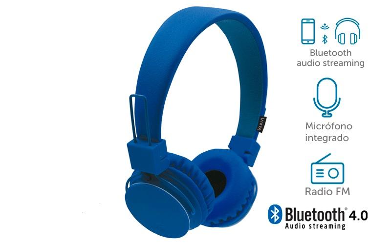AURICULARES VIETA VHP-BF180 azul