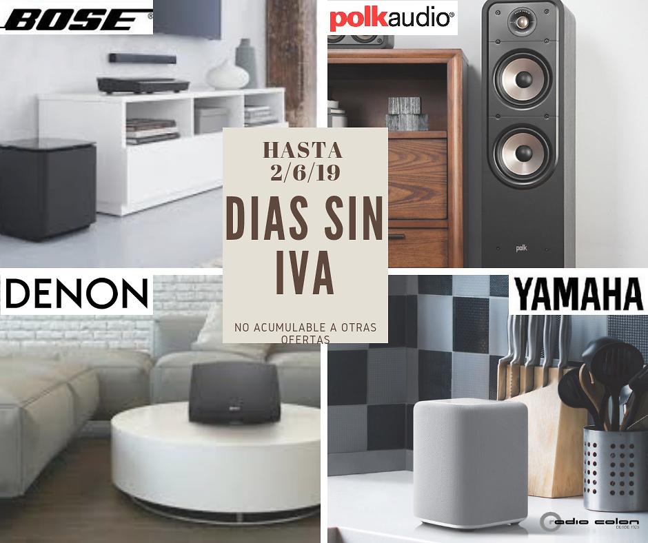 Días Sin Iva Junio 2019 Especialistas En Alta Fidelidad Televisión Y Equipos Dj Radio Colon