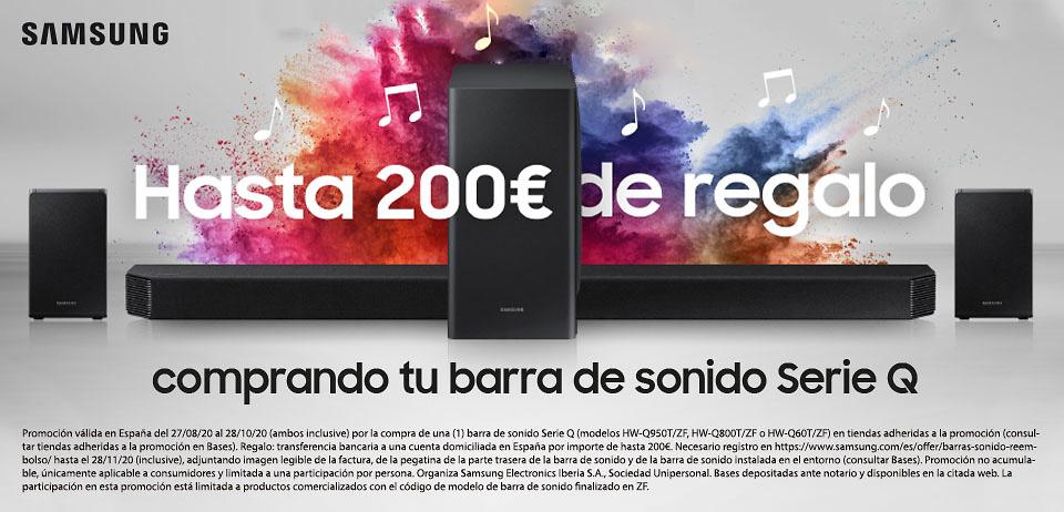 Promoción Barras de sonido Samsung