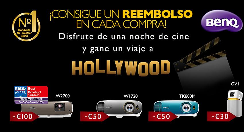 Promoción reembolso BenQ  con un toque hollywoodense