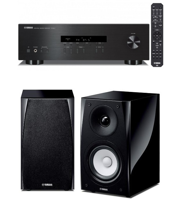 conjunto hifi formado por receptor yamaha rs202d m s. Black Bedroom Furniture Sets. Home Design Ideas