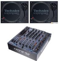 2 Technics SL1210 mk7 + Xone:92