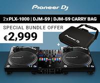 Pioneer DJ PLX-1000 x 2 + DJM-S9 + DJC-S9 BAG